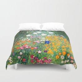 """Gustav Klimt """"Blumengarten (Flower Garden)"""" Duvet Cover"""