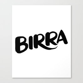 Birra Canvas Print