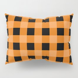 Orange and Black Buffalo Check Pillow Sham