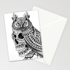 Great Horned Skull Stationery Cards