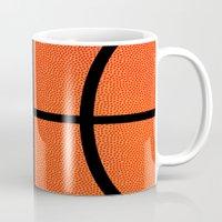 basketball Mugs featuring Basketball by Rorzzer