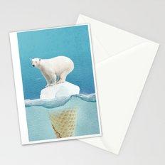 Polar ice cream cap Stationery Cards