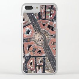 Pentagonal urbanism Clear iPhone Case