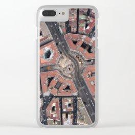 Pentagonal urbanism Clear iPhone Case