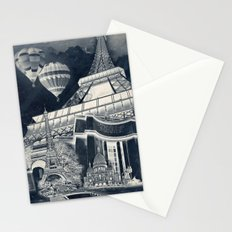 French Collage v1 Negative Stationery Cards