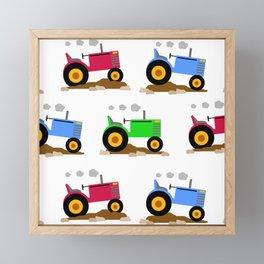 Farm Tractor in the Field Framed Mini Art Print