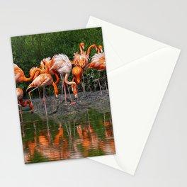 Flamingo Reflection Stationery Cards