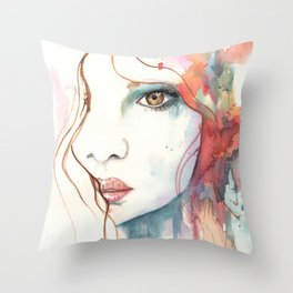 Girl ASD 01 Throw Pillow