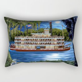 Mystcal Moonlight Cruise Down the Bayou Rectangular Pillow