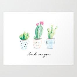 Stuck on You Art Print
