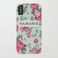 namaste iPhone & iPod Cases featuring Namaste by Rambutan Designs