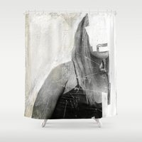 number Shower Curtains featuring Faceless | number 03 by FAMOUS WHEN DEAD