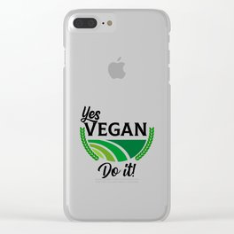 Yes Vegan Do It Clear iPhone Case