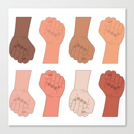 Female Power Pattern 3 Canvas Print