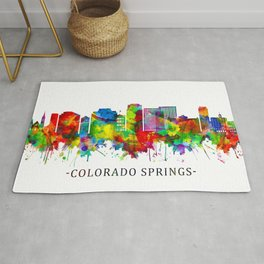 Colorado Springs Colorado Skyline Rug