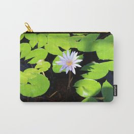 Lotus Flower and Lily Pads Carry-All Pouch