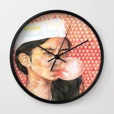 Bubblegum Girl Wall Clock