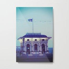 Seaside Pier Ticket Booth Metal Print
