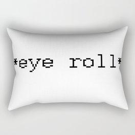 *Eye Roll* Rectangular Pillow