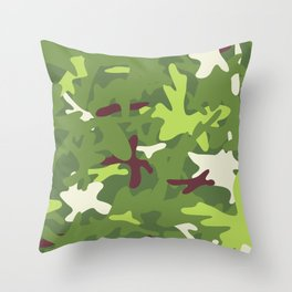 Camouflage military background. Throw Pillow