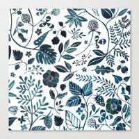 oana befort Canvas Prints featuring Blue Meadow by Oana Befort