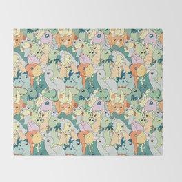 Cute Dino Pattern Throw Blanket