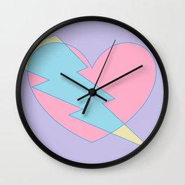 Pastel 90s Heart Wall Clock
