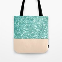 pool Tote Bags featuring Pool by Grace