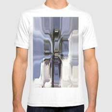 Abstract tree MEDIUM White Mens Fitted Tee