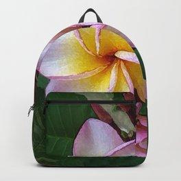 Blushing Hawaiian Plumeria Blossom Backpack