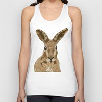 hare Tank Tops featuring Happy Hare by ArtLovePassion