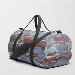 Marble in Blues and Browns Duffle Bag