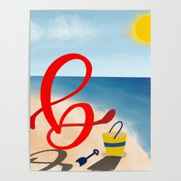 Baby B at the Beach Poster