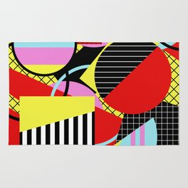 Retro Geometry - Geometric, abstract, bold design Rug