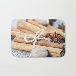 nutmeg and cinnamon Bath Mat