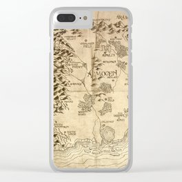 Map of Aemogen Clear iPhone Case