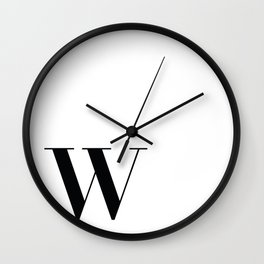 Inital W Wall Clock