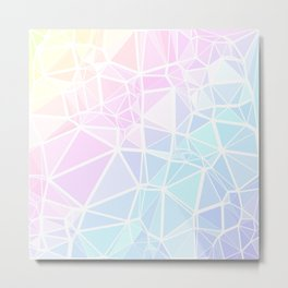 Pastel Triangles 1 Metal Print