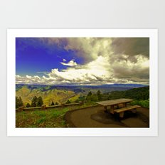 Table with a View Art Print