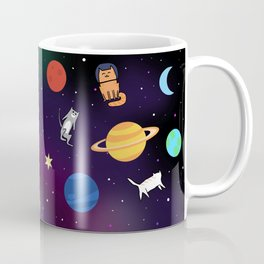 """Cats from outer space!"" Galaxy Print Coffee Mug"