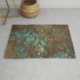 Aged Damask Texture 4 Rug