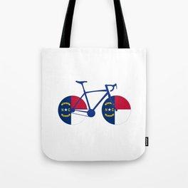 North Carolina Flag Cycling Tote Bag