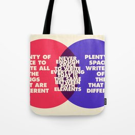 The Problem With Venn Diagrams Tote Bag