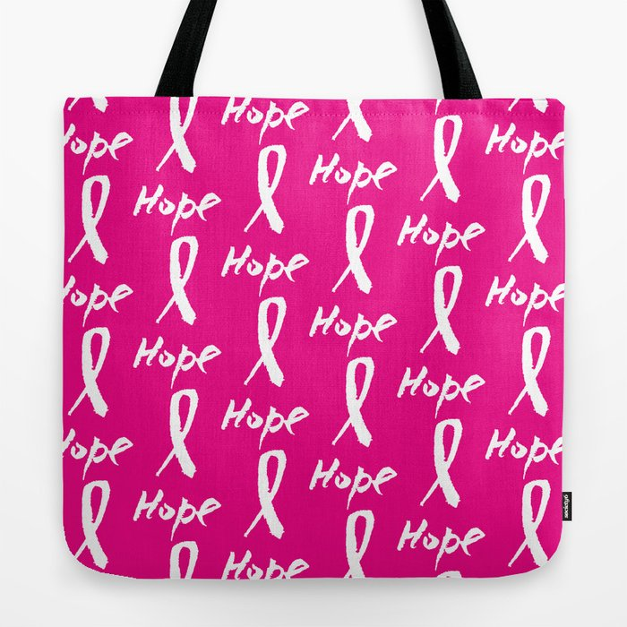 Vector watercolor pink ribbon - breast cancer awareness symbol Tote Bag