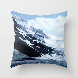 Breathtaking Canadian Mountain Glacier Ice Flow Throw Pillow