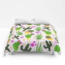 Cactus Pattern of Succulents Comforters