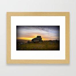 Dartmoor Sunrise  Framed Art Print