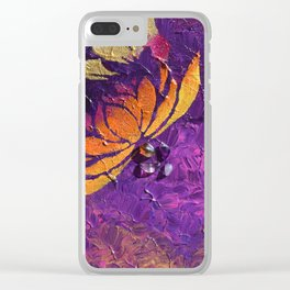 Lotus Fluff Clear iPhone Case