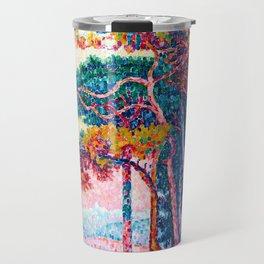 Paul Signac - Antibes - The Pinewood - Colorful Vintage Fine Art Travel Mug