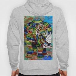Rainbow Rhino Negative Background Hoody